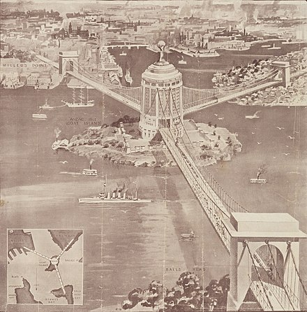 Stowe's 1922 Proposal Ernest Stowe Proposed Sydney Harbour Bridge.jpg