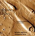 Erosion features in Ares Vallis.JPG