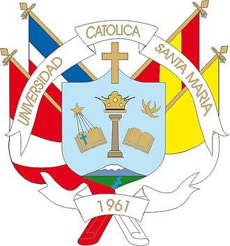 Catholic University of Santa María - Image: Escudo UCSM