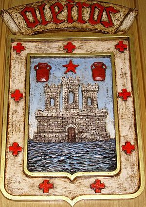 Pedro Fróilaz de Traba - Coat-of-arms of Oleiros, showing a castle on the sea. The castle at Oleiros was probably originally built as protection against Vikings and it was granted to Pedro Fróilaz in 1112.
