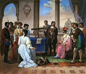 Eustachio Divini - Divini at Federico II de Medici court (M. Piervittori 1884)