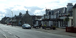 The main street from opposite the Novar Arms