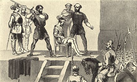 Image of the execution of Balboa in Vasco Nunez de Balboa by Frederick A. Ober Execution of Balboa.jpg