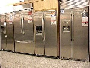 English: This is a picture of refrigerators, s...