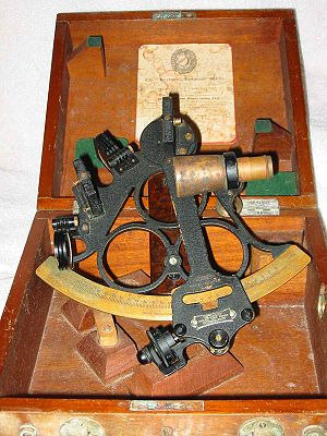 A well-used sextant of mid-20th century vintag...