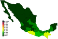 Extreme Poverty Percentages of Mexico 2012.png