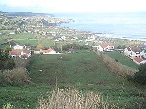 Praia do Almoxarife - The area of Facho, overlooking the main village of Praia do Almoxarife, as seen from the escarpment of Espalamaca