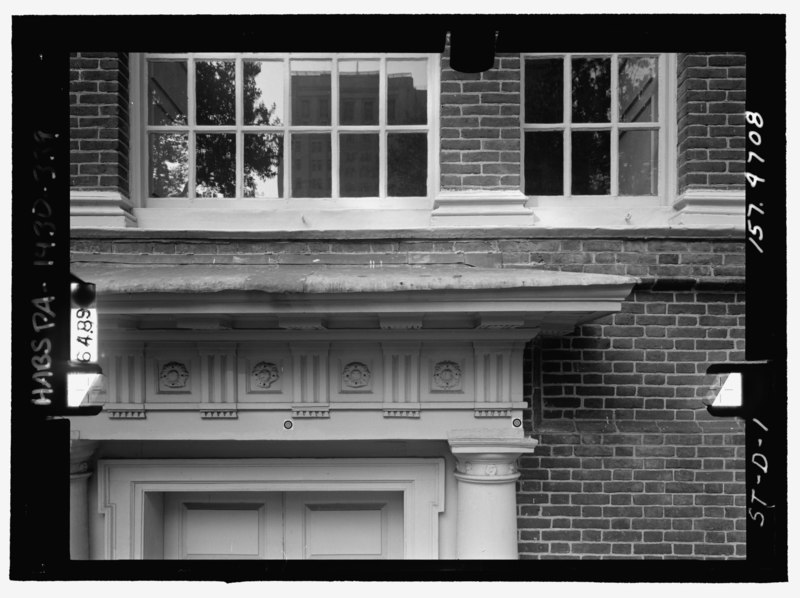 Front Elevation With Glass : File front elevation of south entrance cornice detail