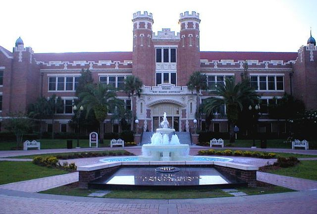 It is traditional for students to be dunked in the Westcott fountain on special occasions FSUWestcottBuilding-2.jpg