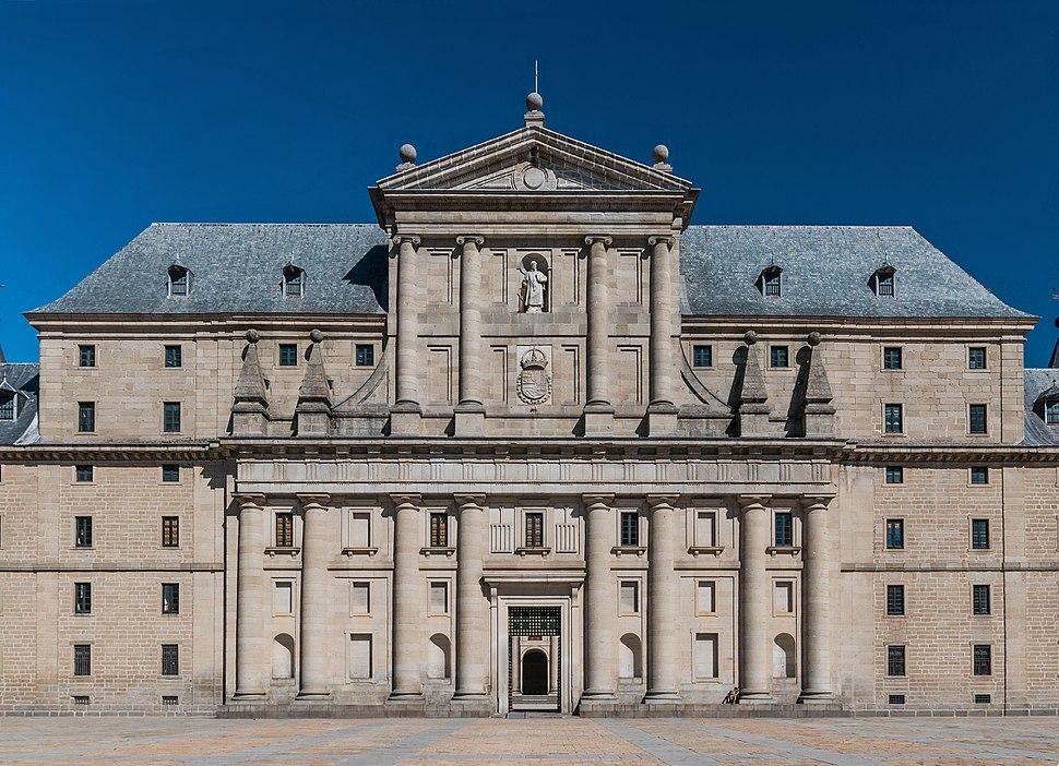 Facade monastery San Lorenzo de El Escorial Spain