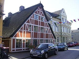 Finkenwerder Quarter of Hamburg in Germany