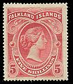 Falkland Is 1898 QV 5s red.jpg