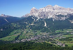 View of Cortina d'Ampezzo