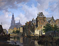 Fancy cityscape with the Mauritshuis, by Bartholomeus Johannes van Hove.jpg