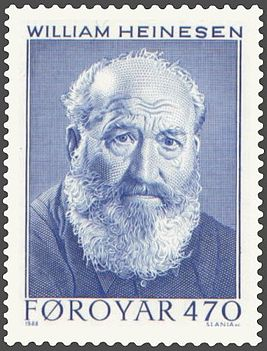 Faroe stamp 164 william heinesen.jpg