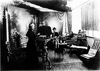 Frederikke Federspiel - Frederikke Federspiel with client (1910)