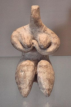 7cee8c299b Fertility figurine (maybe a goddess )  6000-5100 BC  painted clay  height   8.2 cm  by Halaf culture  Louvre AO21095.