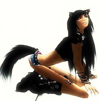 Culture of Second Life - A female neko avatar.