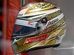 Fernando Alonso 2011 Monaco helmet left 2017 Museo Fernando Alonso.jpg