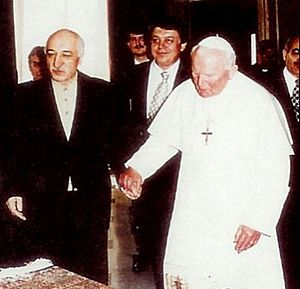 Fethullah Gülen - Gülen with Pope John Paul II in 1998.