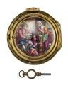 Fickur med boett av guld och emalj med miniatyrmålning, 1780 - Hallwylska museet - 110449.tif