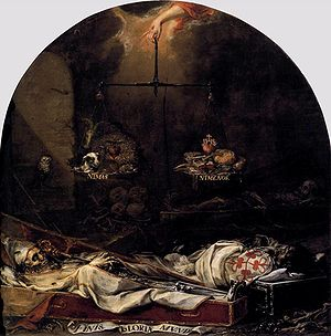 Juan de Valdés Leal - Finis gloriae mundi from 1672