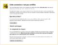 Firefox - cette connexion n'est pas certifiée.PNG
