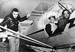 First Lady Eleanor Roosevelt, center, is shown in a digital image of a photo taken with U.S. Army Air Corps Tuskegee Airman pilot C. Alfred Anderson in March 1941 140223-F-ZZ999-001.jpg
