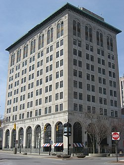 First National Bank and Trust Building in Lima from southeast, closeup.jpg