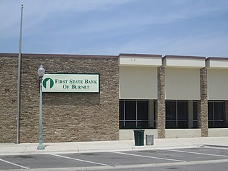 Burnet, Texas - Image: First State Bank of Burnet, TX IMG 1996