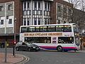 First bus in Great Moor Street, Bolton.jpg