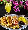 Fish tacos with lemonade.jpg