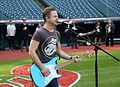 Five-time Grammy nominee Hunter Hayes performs his national anthem soundcheck, hours before Game 6 of the World Series. (30679480256).jpg