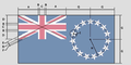 Flag of the Cook Islands construction.png