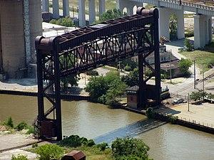 Flats Industrial Railroad - Flats Industrial Railroad vertical lift bridge