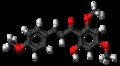 Flavokavain A molecule ball.png