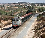 Freight train in Portugal
