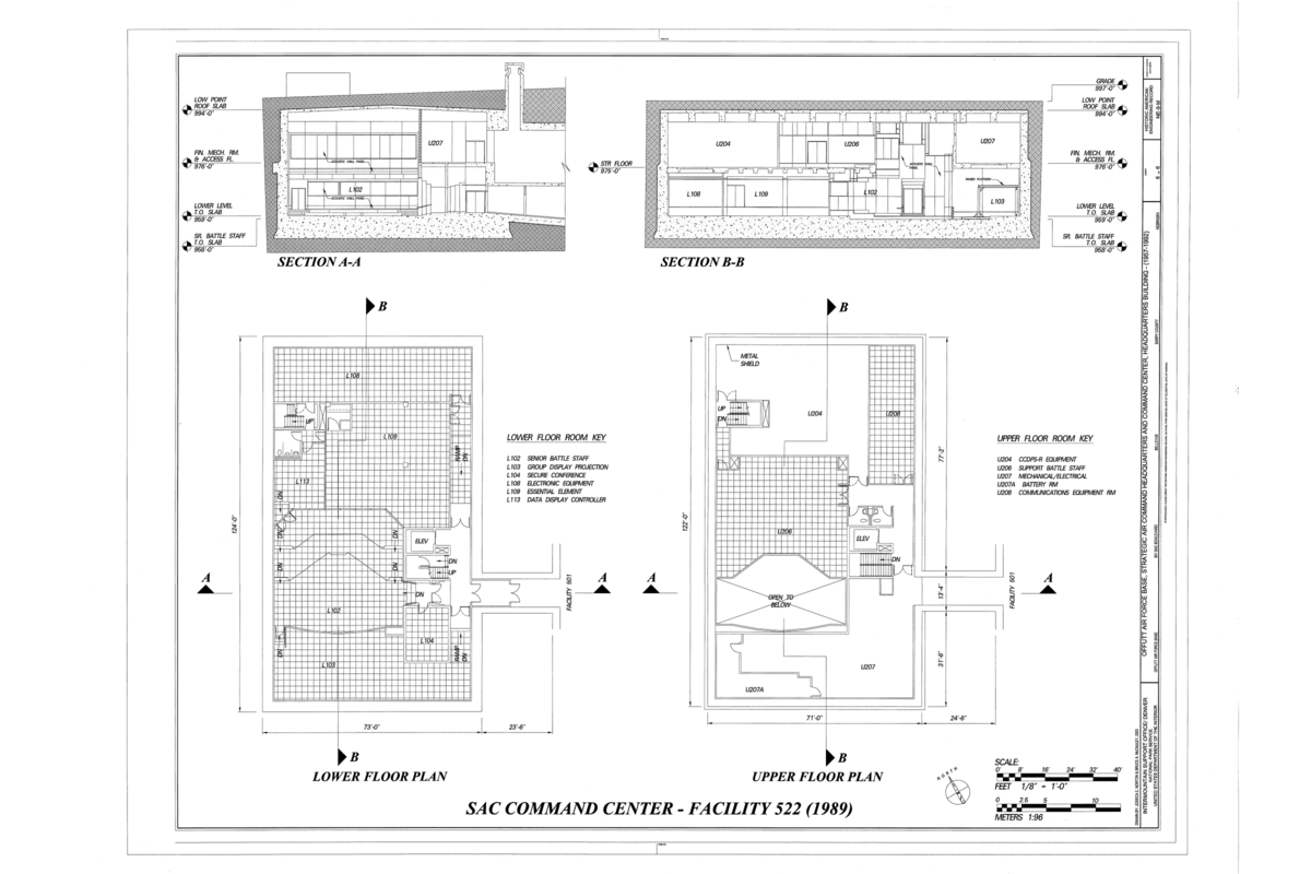 File Floor Plans And Sections Offutt Air Force Base Strategic Air Command Headquarters And Command Center Headquarters Building 901 Sac Boulevard Bellevue Sarpy County Ne Haer Ne 9 M Sheet 6 Of 6 Png,Table Engagement Decoration Ideas At Home