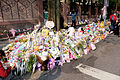 Floral Tributes for Victim on Sidewalk of Lane 9, Section 1, Huanshan Road, Neihu District, Taipei 20160330a.jpg