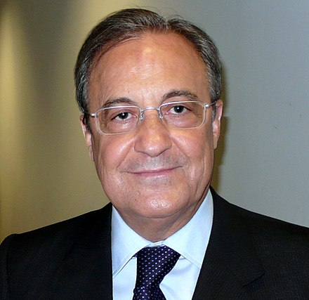 Spanish businessman Florentino Pérez is the current president of the club - Real Madrid C.F.
