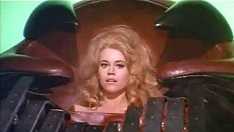Barbarella (film) - Fonda as Barbarella in the excessive-pleasure machine