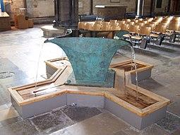 Pila bautismal de la catedral.