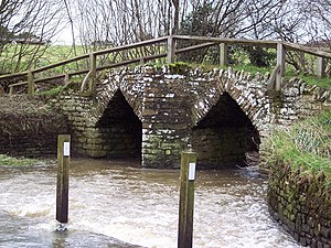 Fifehead Neville - Packhorse bridge over the River Divelish