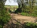 Footpath and farm track to Crundale church - geograph.org.uk - 791215.jpg