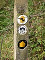 Footpath signpost, Haysden Country Park - geograph.org.uk - 1051198.jpg