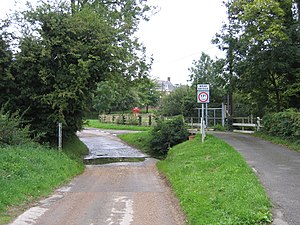 Aslackby and Laughton - Image: Ford in Aslackby village, Lincs geograph.org.uk 227482