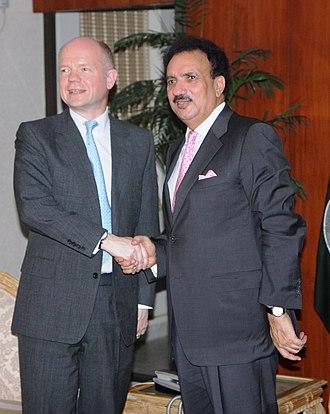 Rehman Malik - Image: Foreign Secretary in Pakistan (4727720266)