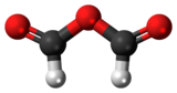 Ball-and-stick model of the formic anhydride molecule