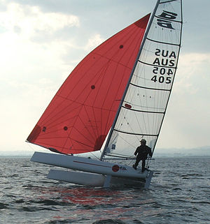 Formula 16 - Formula 16 sailed 1-up with spinnaker