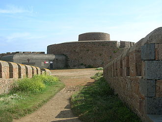 Fort Hommet - Fort Hommet, with Victorian and German accretions